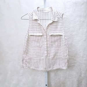 Linen Striped Popover by LUSH